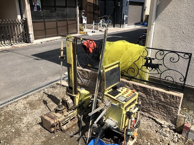 地盤調査(施工:アキュラホーム大阪)